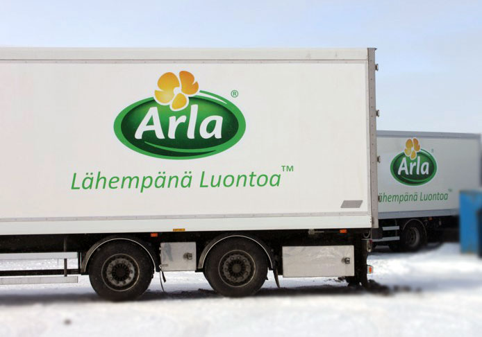 Kuorma-autoteippaus Arla