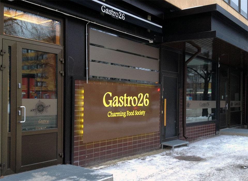 Kohokirjaimet Gastro 26